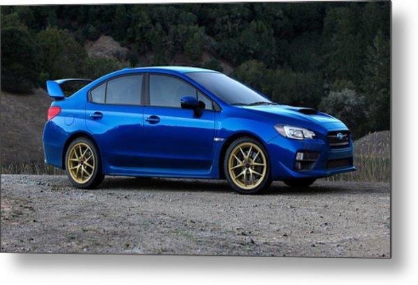 2015 Subaru Wrx Sti Metal Print
