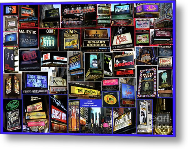 2016 Broadway Spring Collage Metal Print
