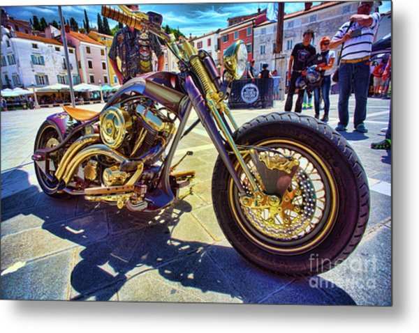 2016 Custom Harley Winner Metal Print