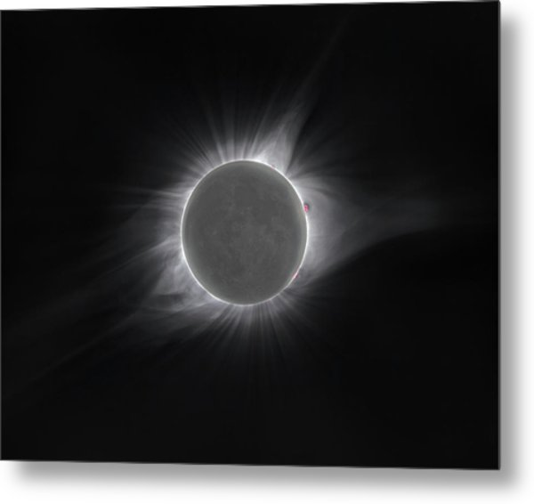 2017 Eclipse And Earthshine Metal Print