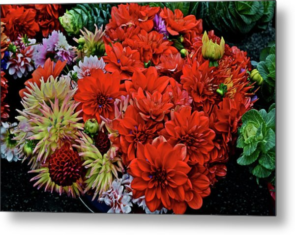 2017 Mid October Monona Farmers' Market Buckets Of Blossoms 1 Metal Print