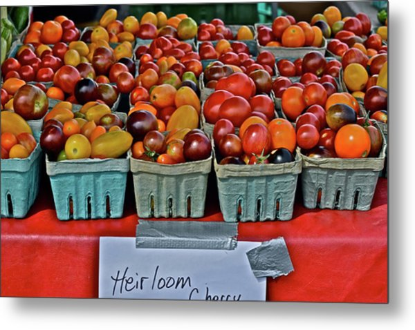 2017 Monona Farmers' Market August Heirloom Cherry Tomatoes Metal Print