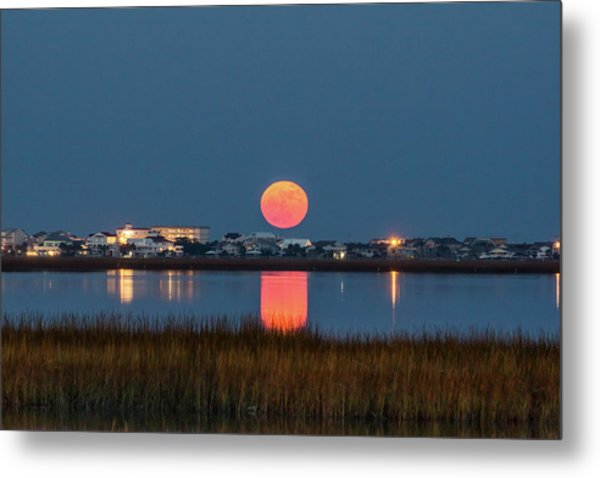 Metal Print featuring the photograph 2017 Supermoon by Francis Trudeau