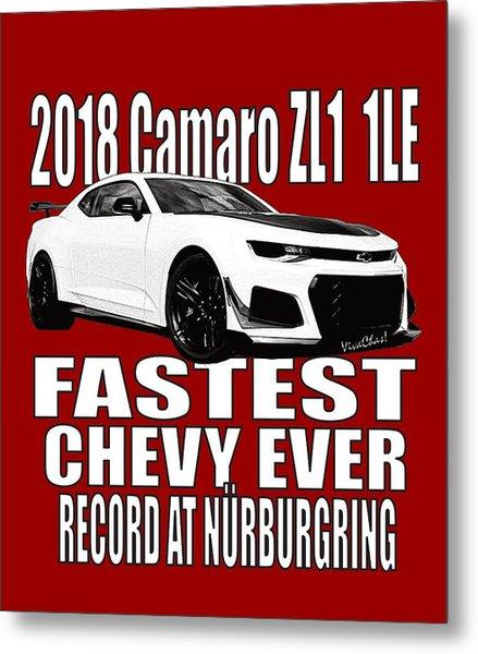 2018 Camaro Zl1 1le Metal Print