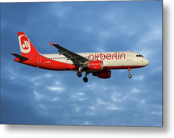 Air Berlin Airbus A320-214 Metal Print