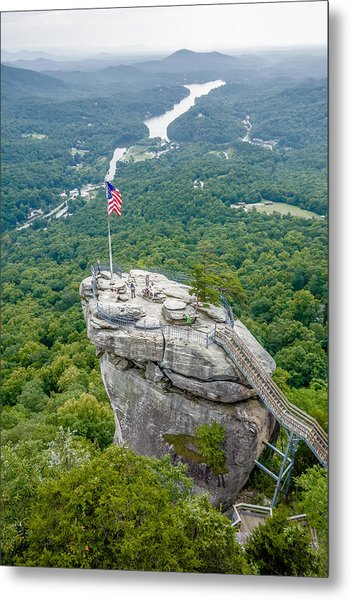 Metal Print featuring the photograph Lake Lure And Chimney Rock Landscapes by Alex Grichenko
