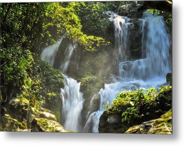 Waterfall Scenery Metal Print