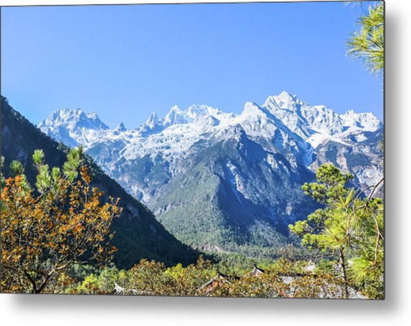 The Plateau Scenery Metal Print