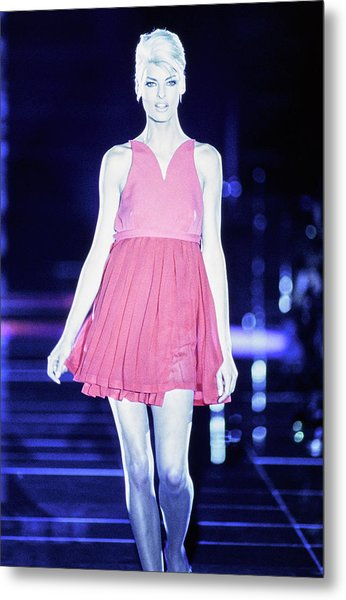 Versace Fall 1991 Rtw Show Metal Print by Guy Marineau