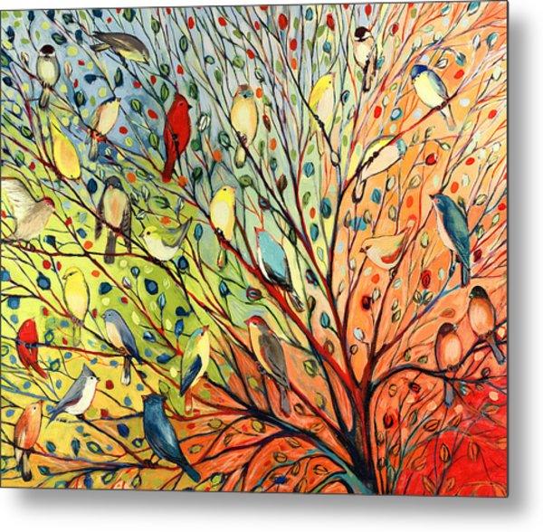 27 Birds Metal Print