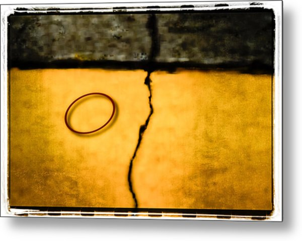 Red Rubber Band Metal Print