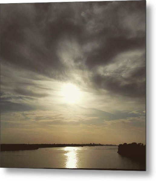 Sunset Over Water Metal Print