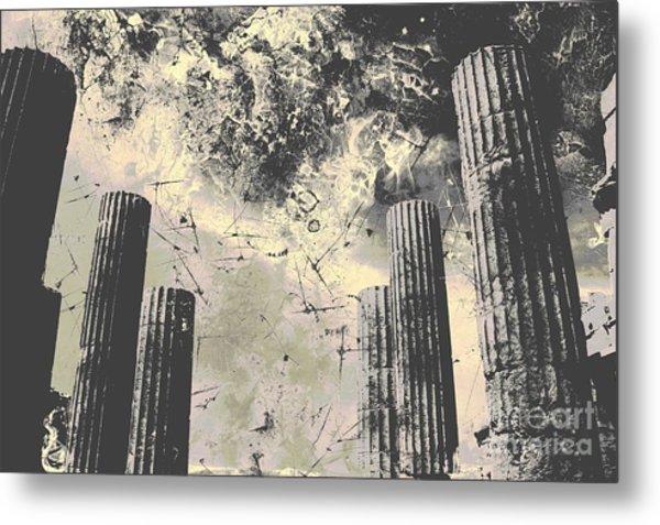 Akropolis Columns Metal Print