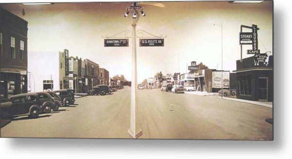 2nd St. 1930 And Route 66 1950 Metal Print by Doug Quarles