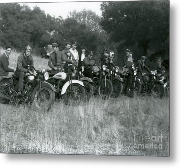 1941 Motorcycle Vintage Series Metal Print