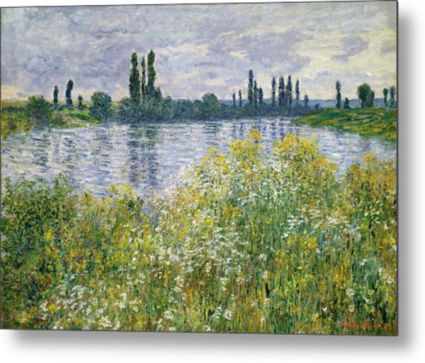 Banks Of The Seine, Vetheuil Metal Print