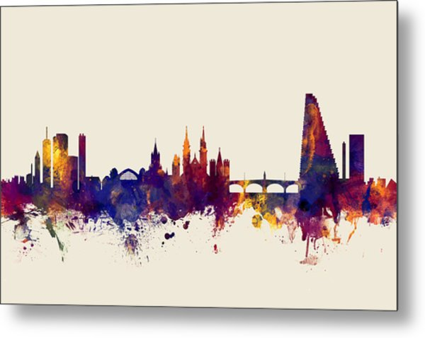 Basel Switzerland Skyline Metal Print