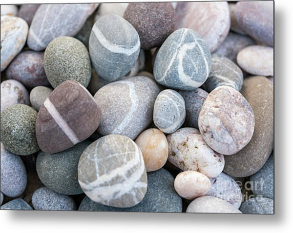 Metal Print featuring the photograph Beach Pebbles by Elena Elisseeva