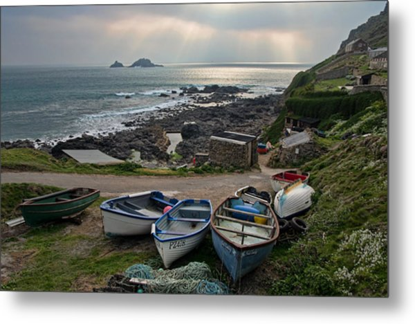 Cape Cornwall Metal Print