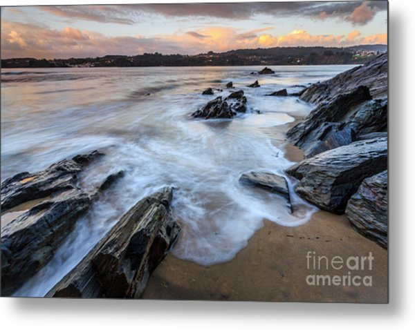 Metal Print featuring the photograph Centrona Cove Galicia Spain by Pablo Avanzini
