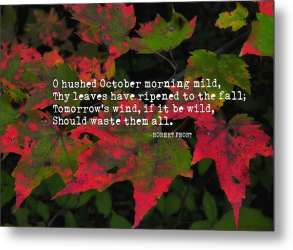 Changing Color Quote Metal Print by JAMART Photography