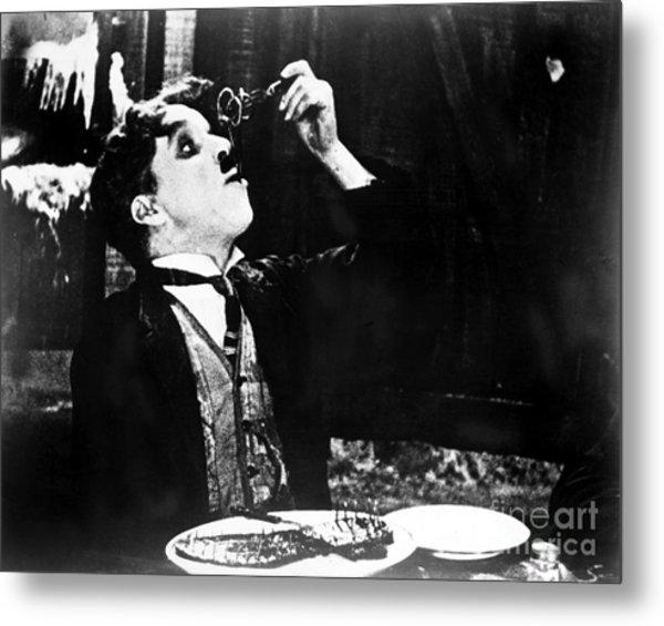 Chaplin: Gold Rush. 1925 Metal Print by Granger