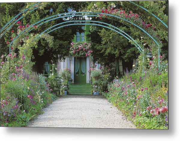 Claude Monet's Garden At Giverny Metal Print