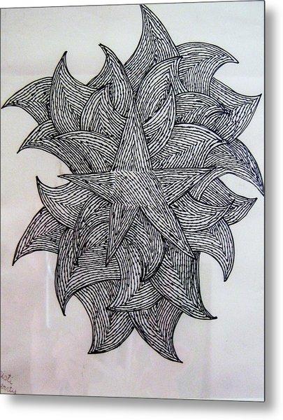 3 D Sketch Metal Print