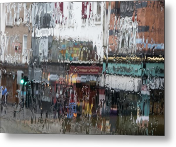 Dublin In The Rain. Metal Print