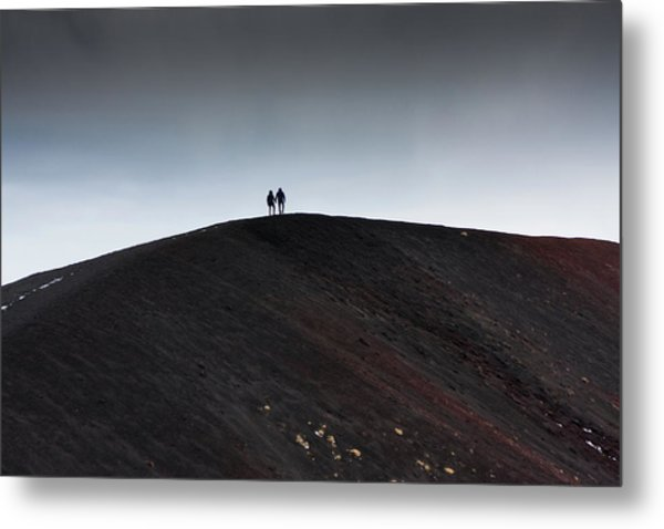 Etna, The Volcano Metal Print