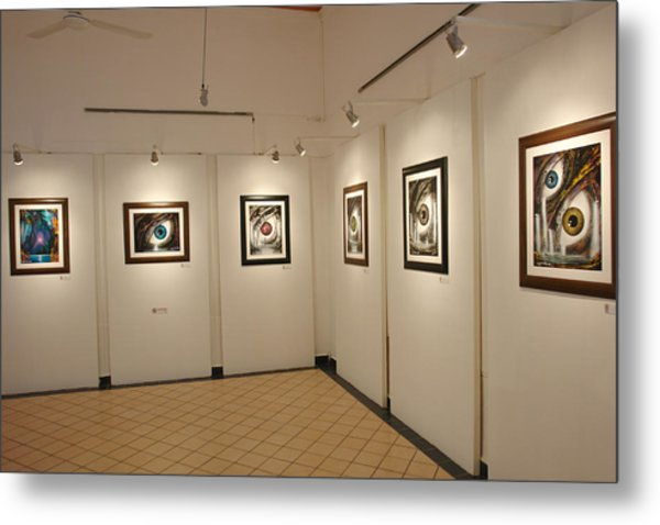 Exhibition Cozumel Museum Metal Print by Angel Ortiz