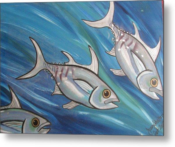 3 Fish Metal Print