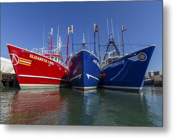 3 Fishing Boats Metal Print