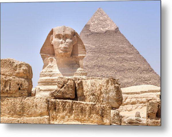 Great Sphinx Of Giza - Egypt Metal Print