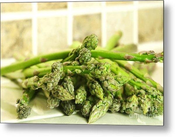 Green Asparagus Metal Print