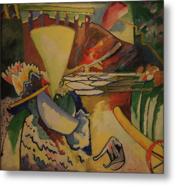 Improvisation Metal Print by Wassily Kandinsky