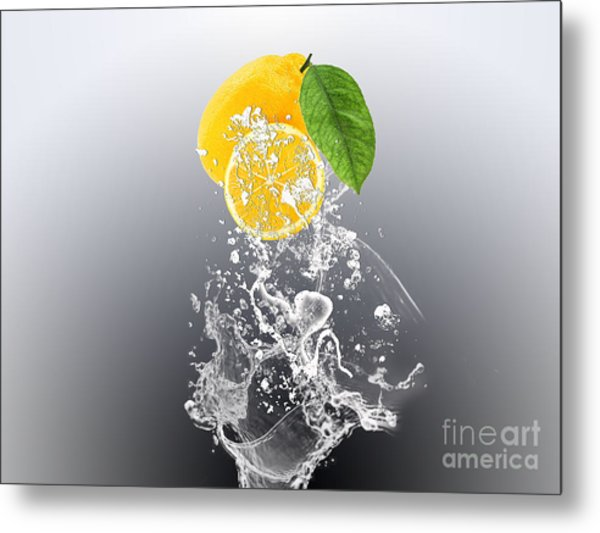 Lemon Splast Metal Print