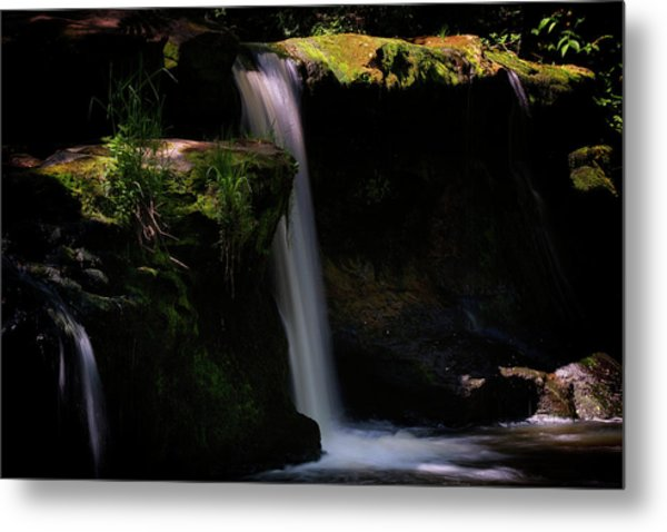 Metal Print featuring the photograph Lynn Mill Waterfalls by Jeremy Lavender Photography