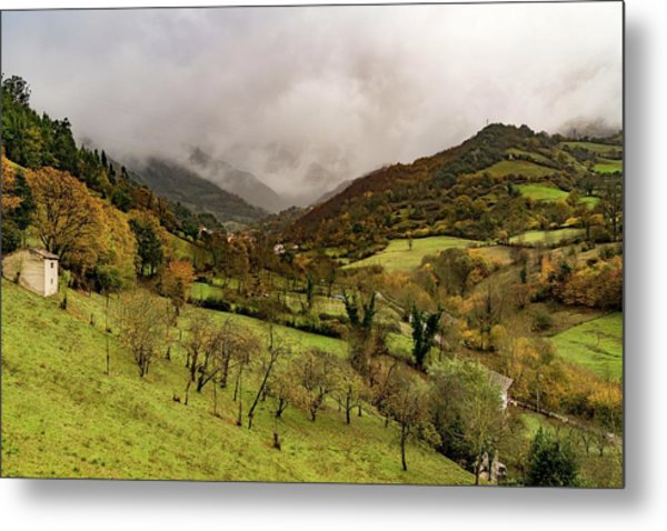 Mountains And Valleys All Around Metal Print