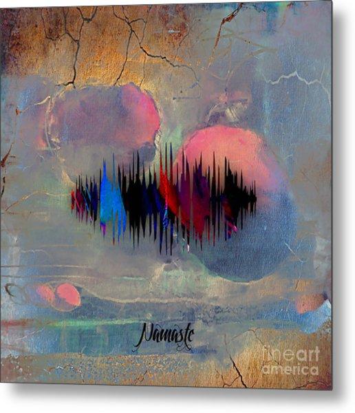 Namaste Spoken Soundwave Metal Print