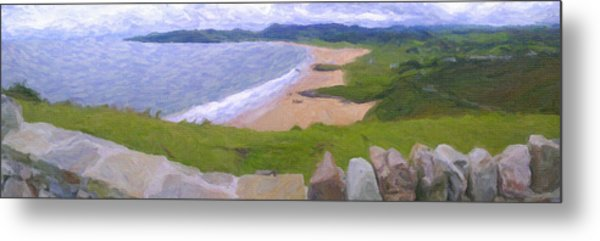 Metal Print featuring the pyrography Ocean by Artistic Panda