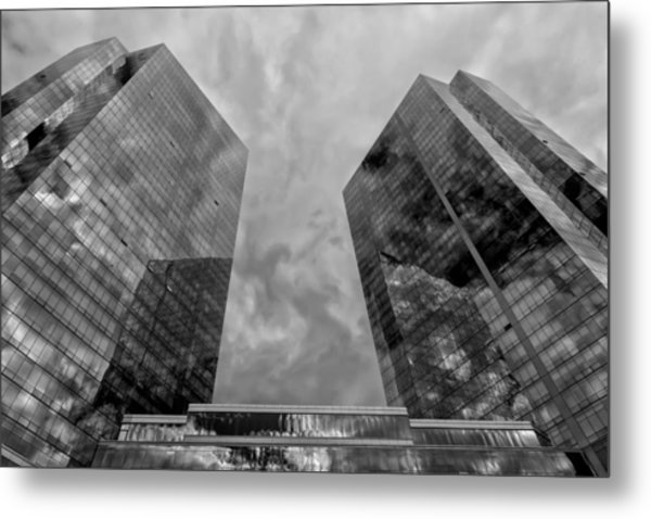 Office Buildings White Plains Ny Metal Print