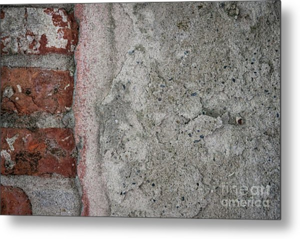 Old Wall Fragment Metal Print