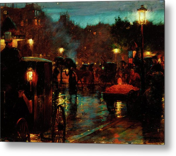 Paris At Night Metal Print