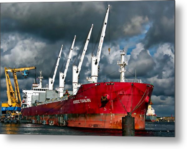 Port Of Amsterdam Metal Print