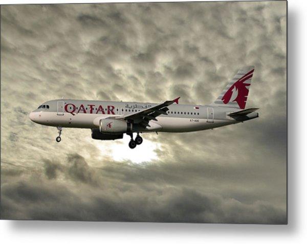 Qatar Airways Airbus A320-232 Metal Print