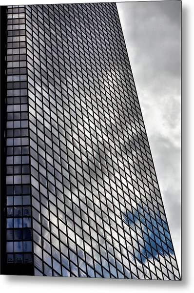 Reflective Glass And Metal Building Metal Print by Robert Ullmann