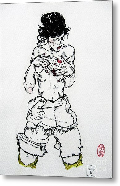 Remembering Schiele Metal Print by Roberto Prusso
