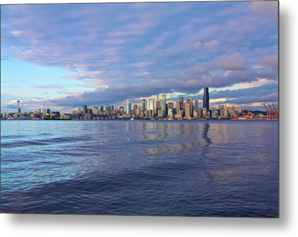 Seattle Skyline Cityscape Metal Print