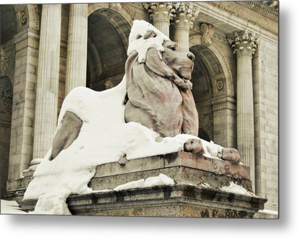 Library Winter Metal Print by JAMART Photography